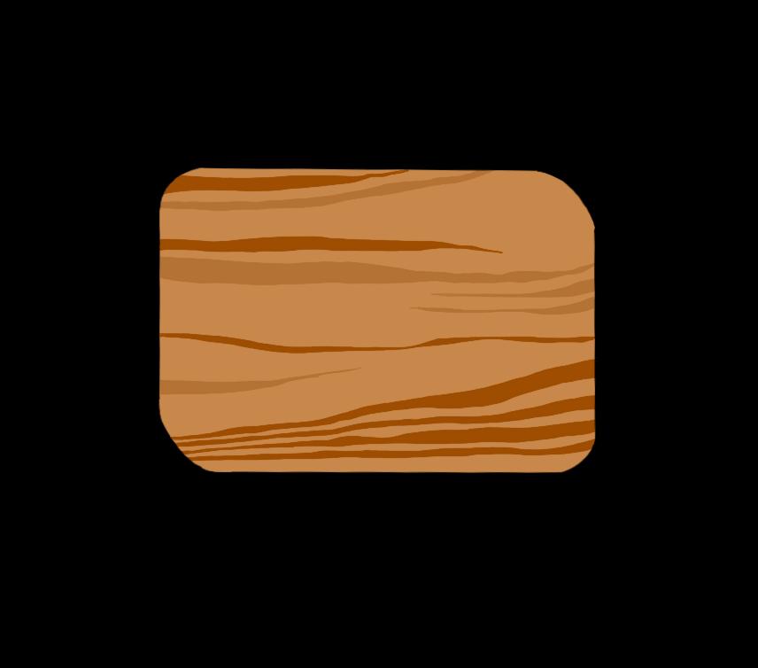 まな板(木目)のイラスト