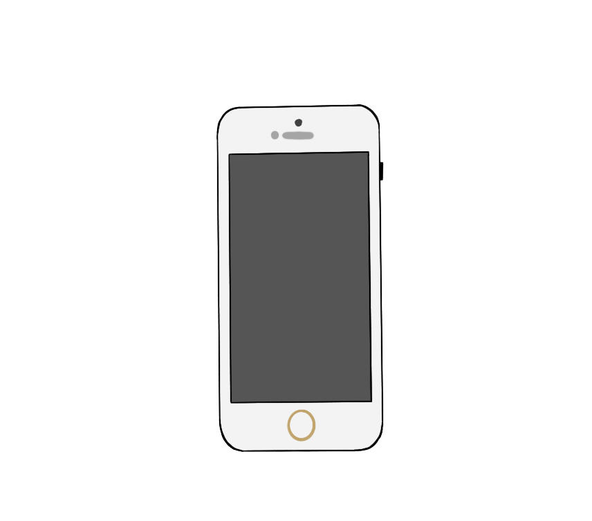 スマートフォンのイラスト2