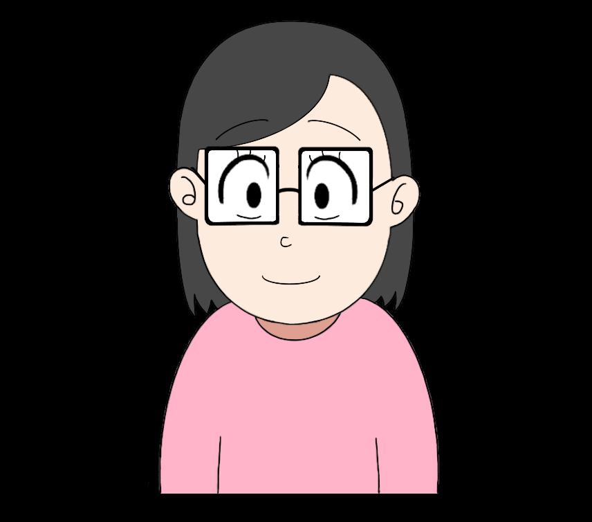 メガネをかけた女性のイラスト1