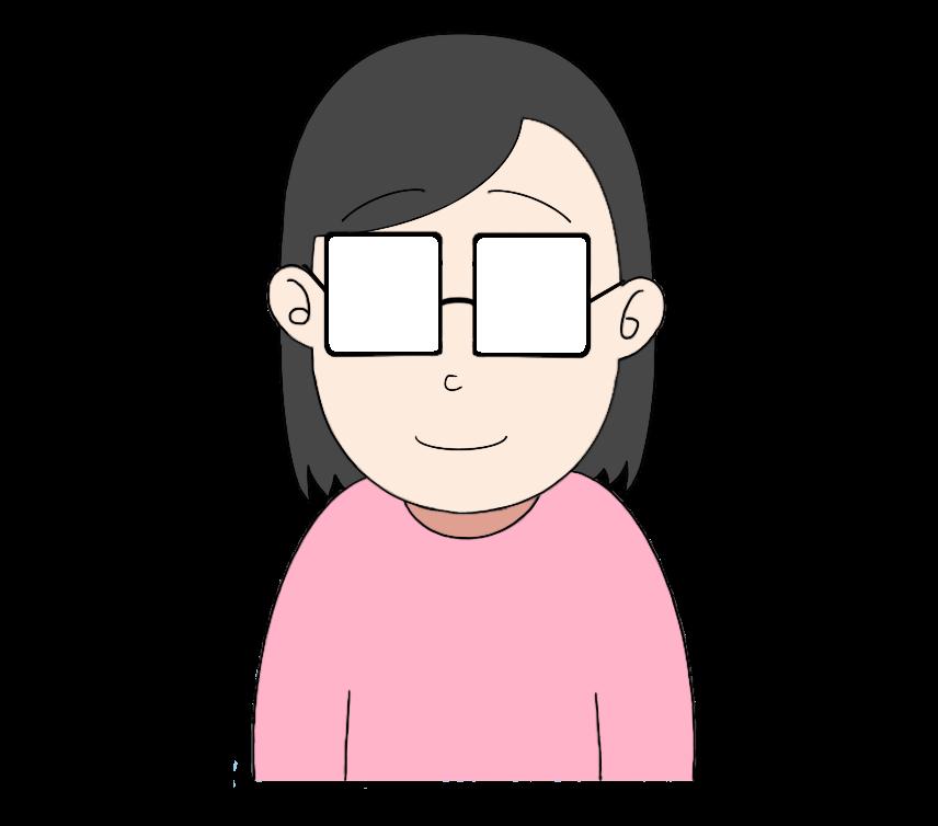 メガネをかけた女性のイラスト2