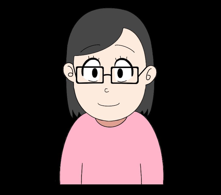 メガネをかけた女性のイラスト3