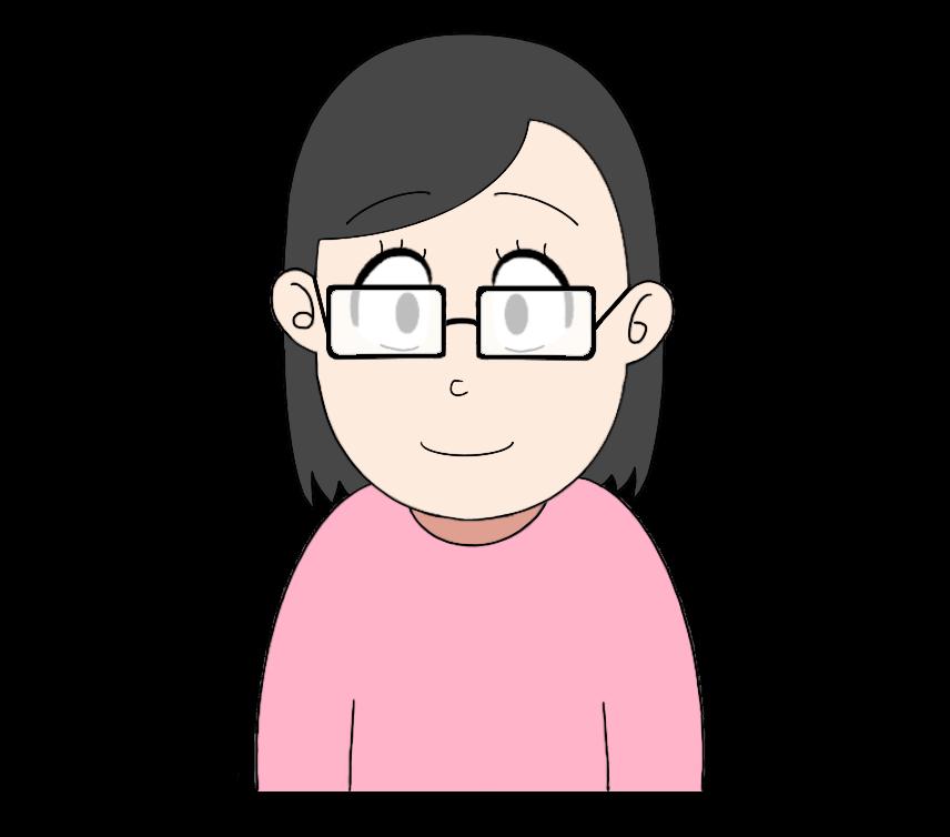 メガネをかけた女性のイラスト4