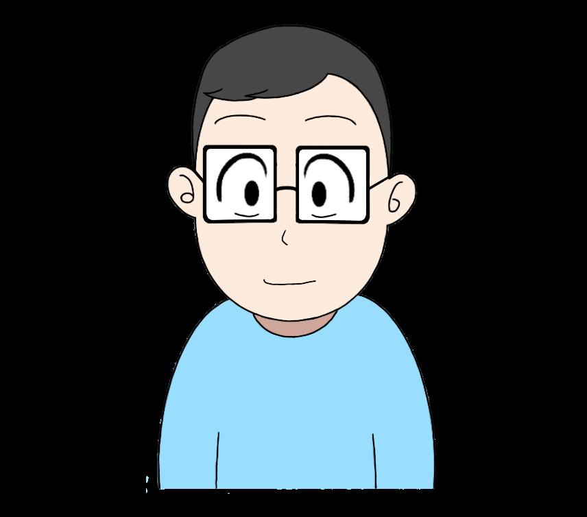 メガネをかけた男性のイラスト1