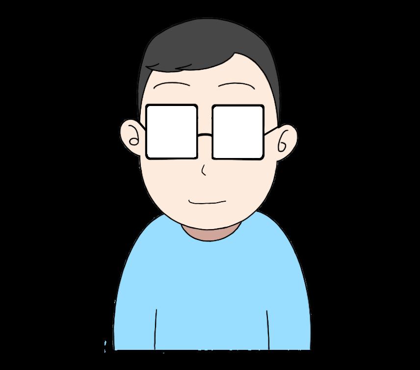 メガネをかけた男性のイラスト2