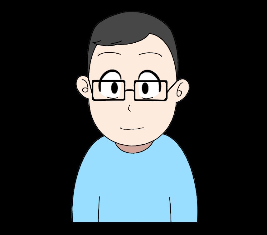 メガネをかけた男性のイラスト3