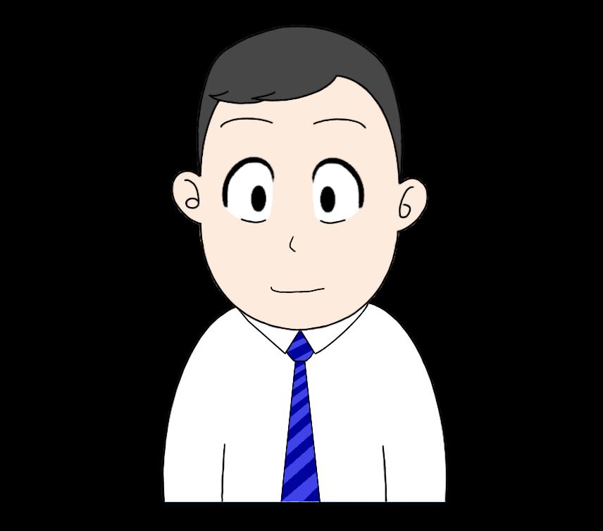 ワイシャツとネクタイを着た男性のイラスト