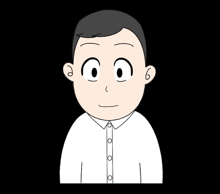 ワイシャツを着た男性のイラスト