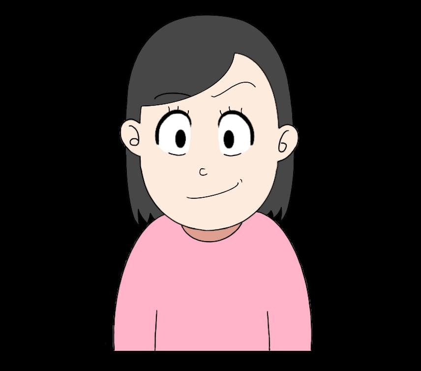 得意げな顔の女性のイラスト