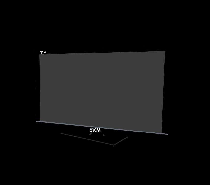 液晶テレビのイラスト