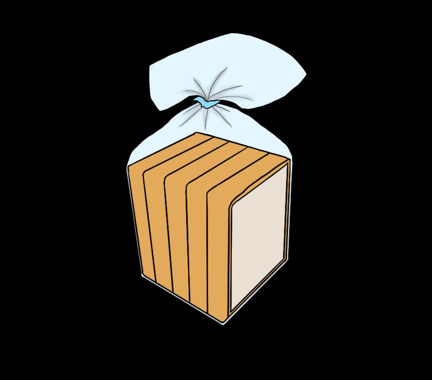 食パン(5枚切り)のイラスト