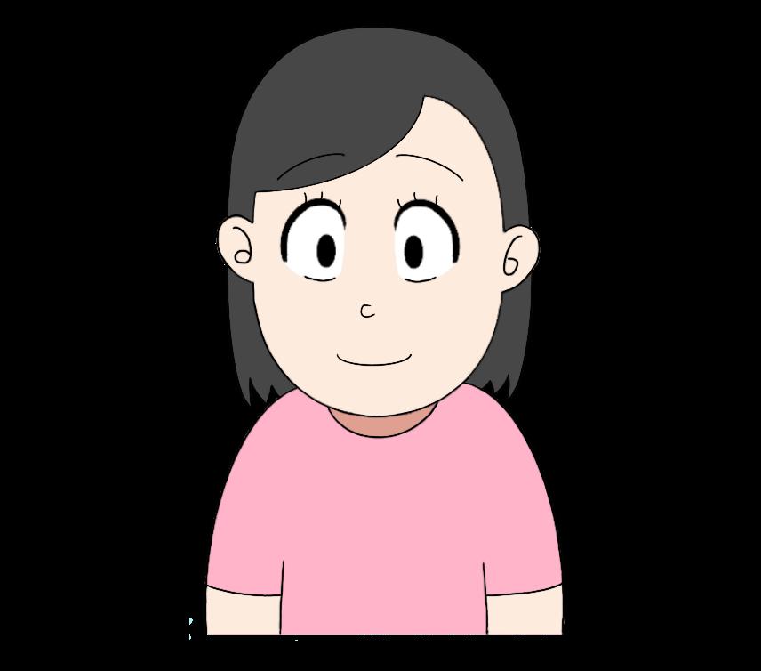Tシャツを着た女性のイラスト