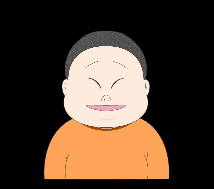 太った子供(男の子)のイラスト