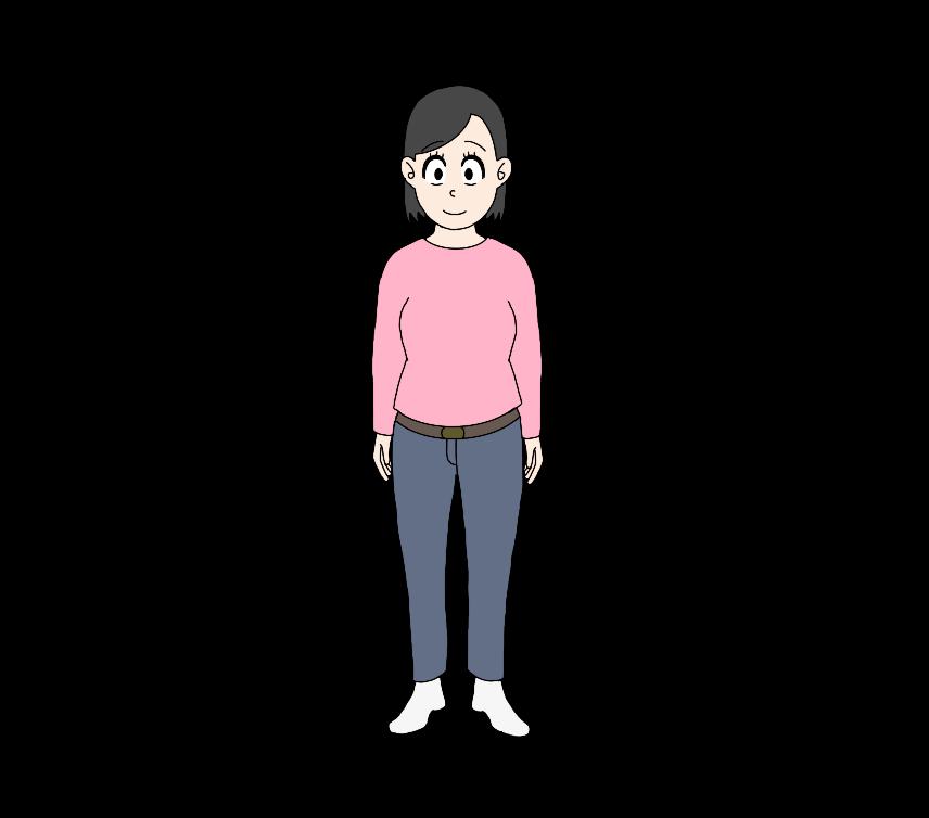 女性(全身)のイラスト