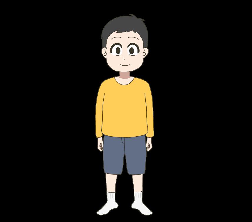 子供(男の子、全身)のイラスト