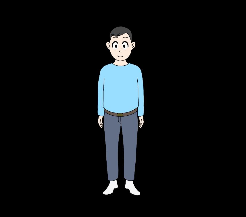 男性(全身)のイラスト