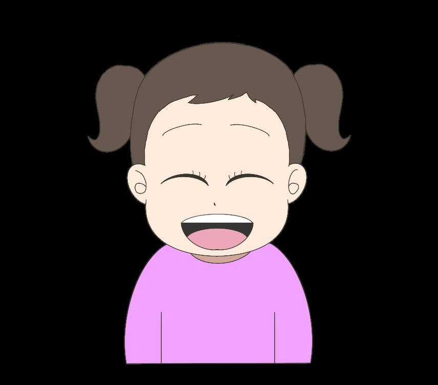 笑顔の子供(女の子)のイラスト