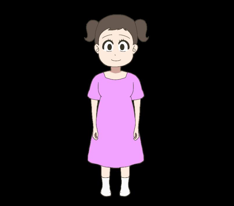 子供(女の子、全身)のイラスト
