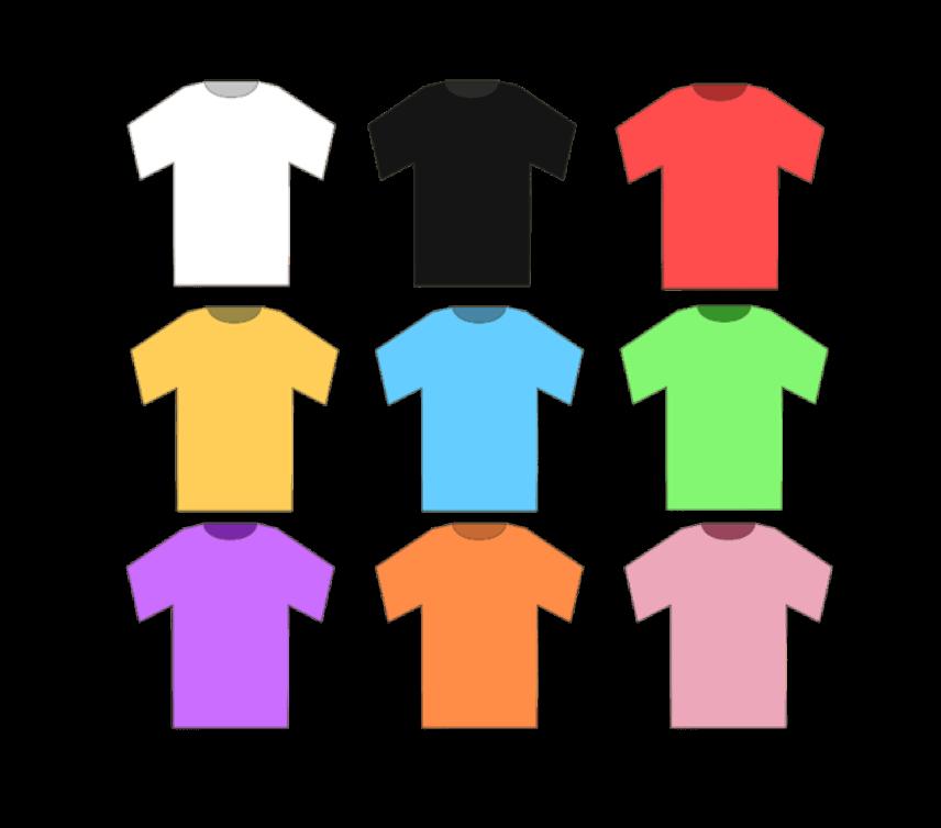 Tシャツのイラストのサムネ