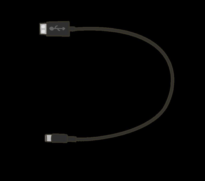 USB(Type-C)ケーブルのイラスト