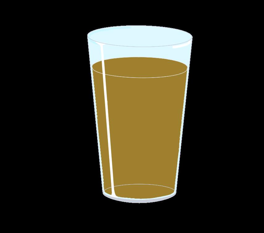 ガラスコップに入った烏龍茶のイラスト