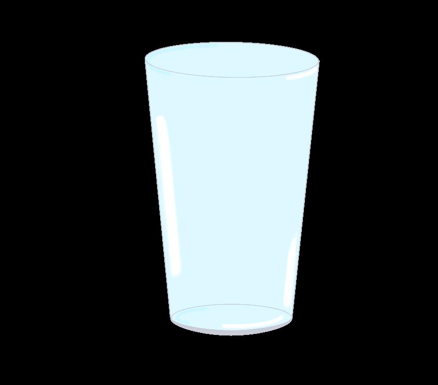 ガラスコップのイラスト