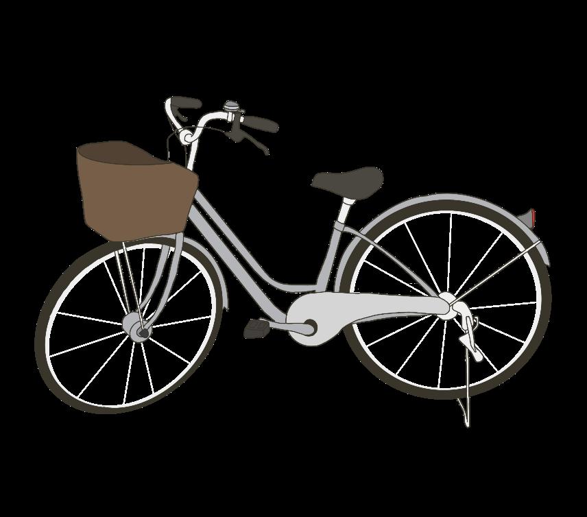 カゴ付き自転車のイラスト