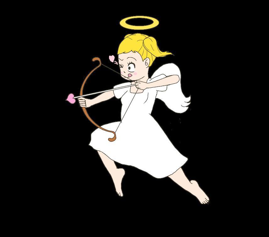 キューピット(天使)のイラスト