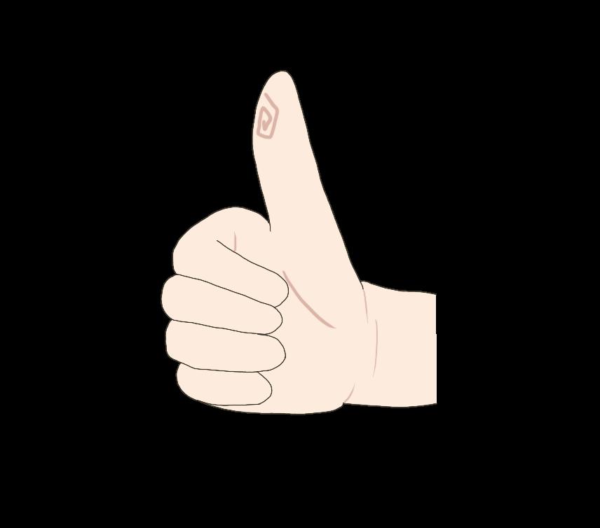 グッドサイン(手)のイラスト