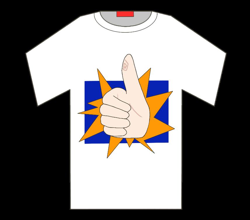 ナイスTシャツのイラスト