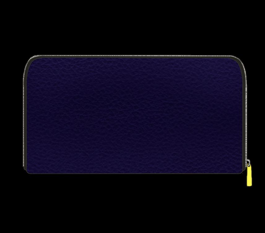 ネイビーの長財布のイラスト