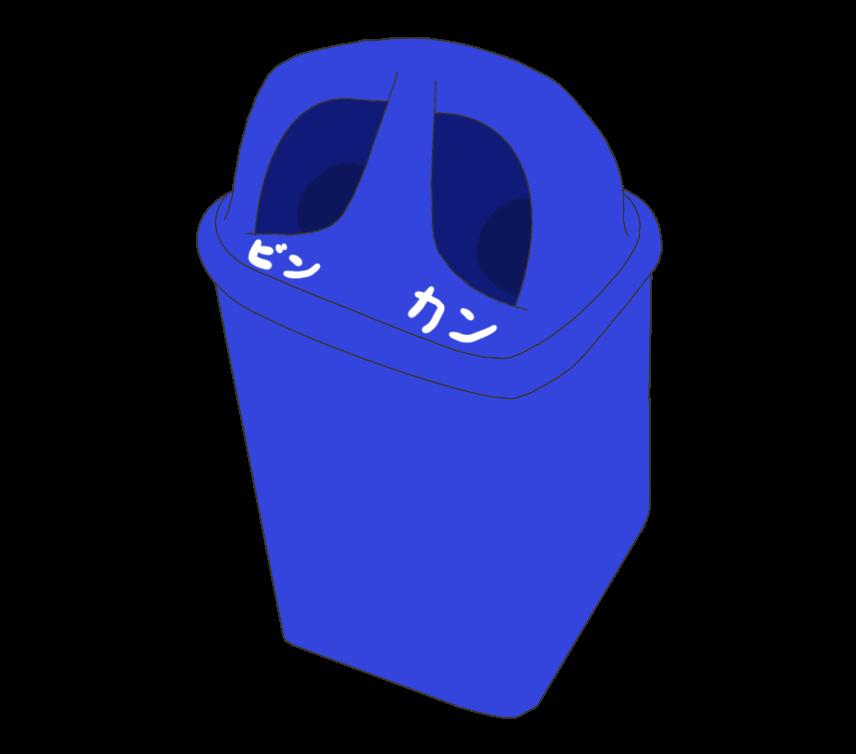 ビンカン専用ゴミ箱のイラスト