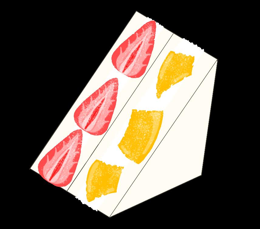 フルーツサンドのイラスト