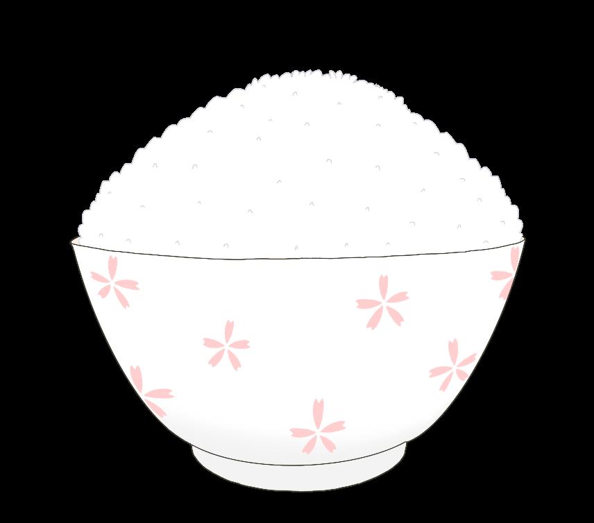 大盛りのご飯のイラスト