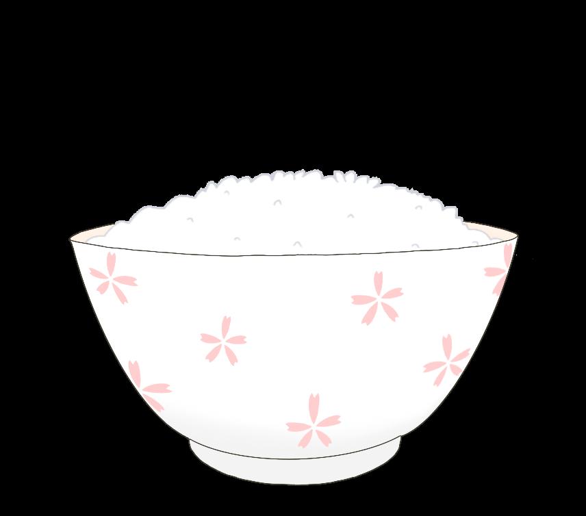 普通盛りのご飯のイラスト