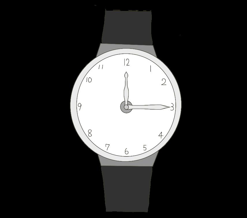 腕時計(アナログ)のイラスト