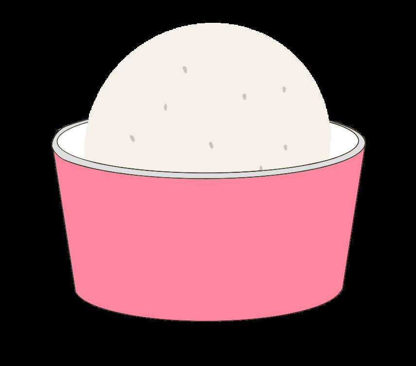カップアイスクリームのイラスト