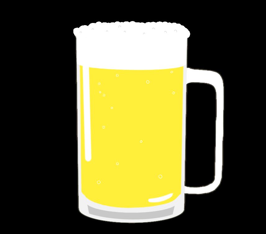 ジョッキビールのイラスト