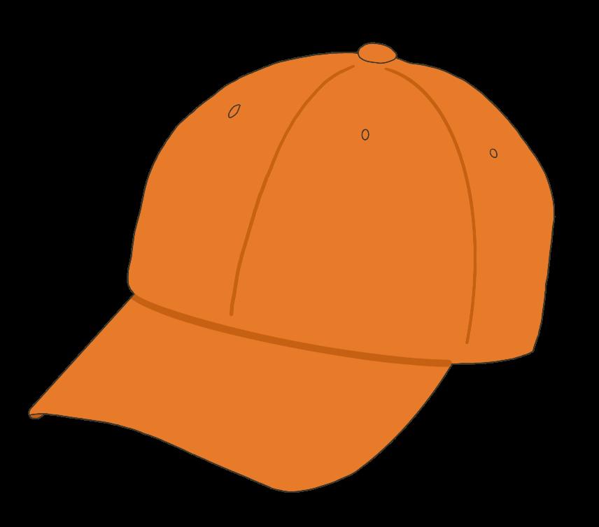 帽子(オレンジ)のイラスト