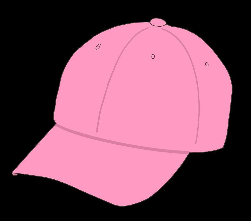 帽子(ピンク)のイラスト