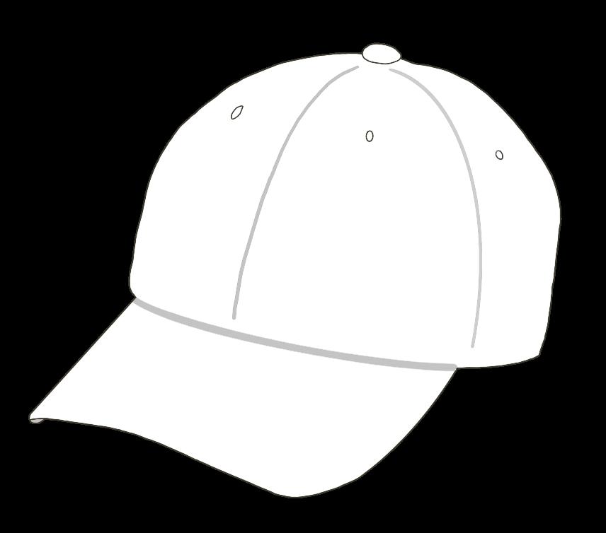 帽子(白)のイラスト