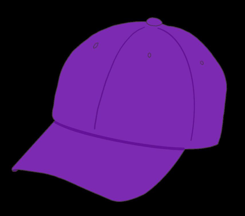 帽子(紫)のイラスト