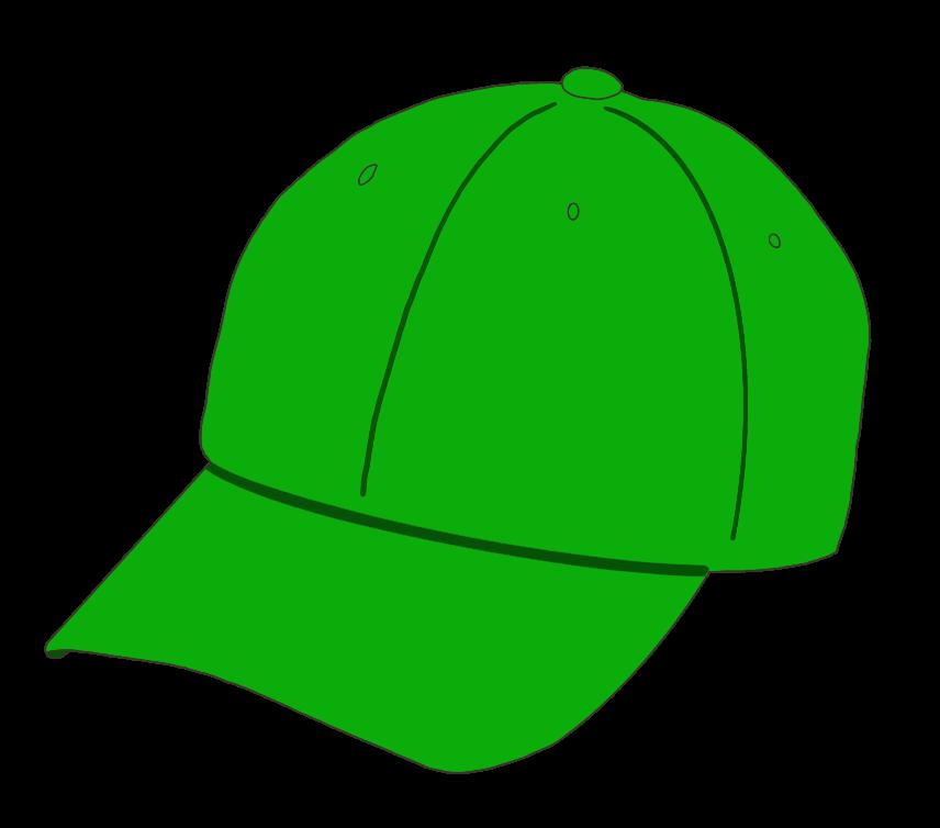 帽子(緑)のイラスト