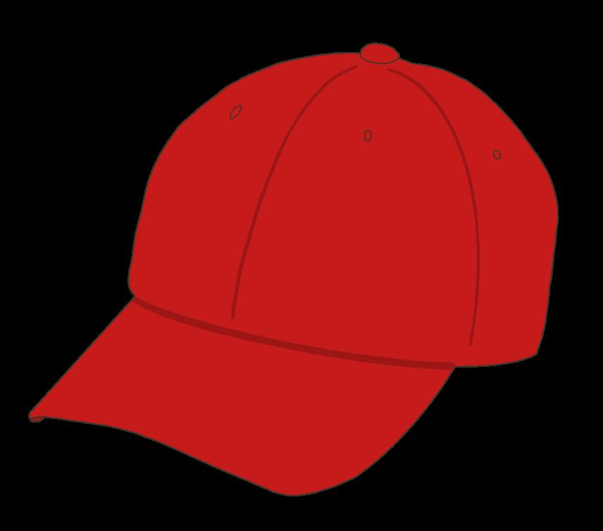 帽子(赤)のイラスト