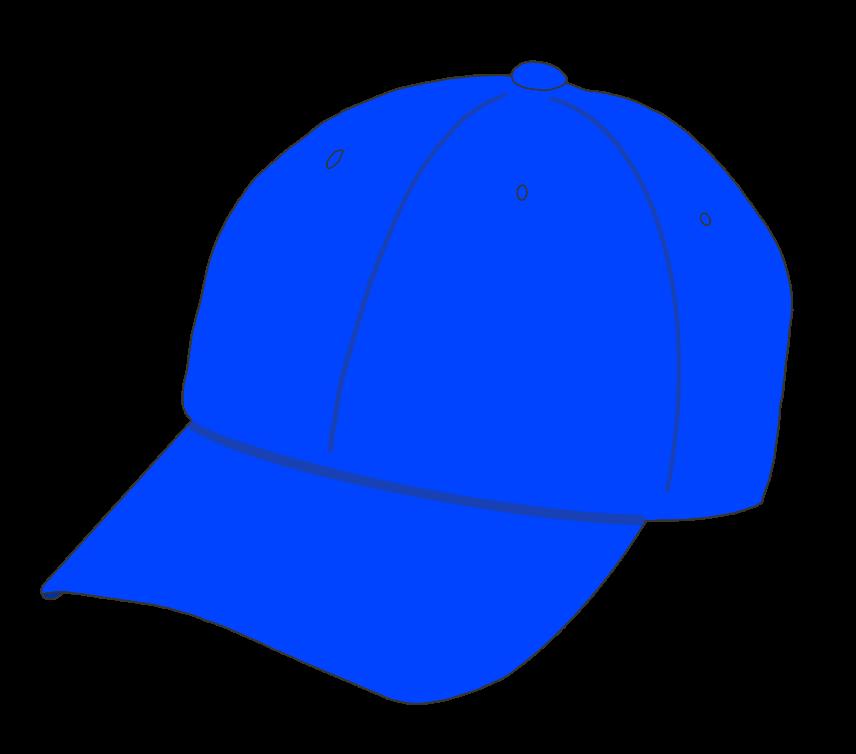 帽子(青)のイラスト
