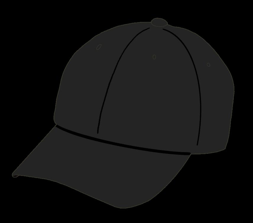 帽子(黒)のイラスト