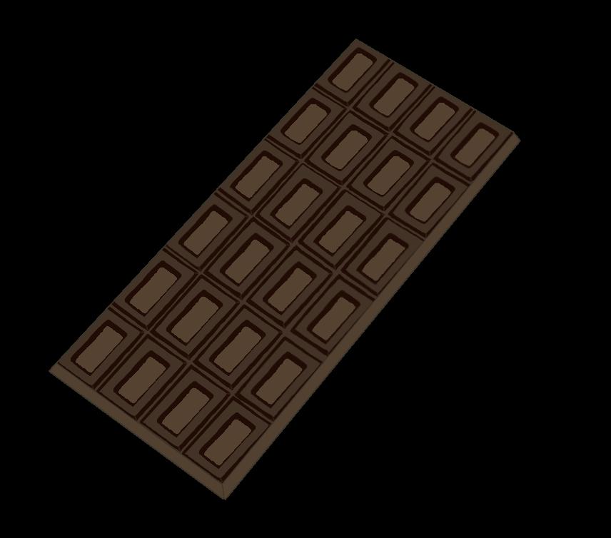 板チョコ(ビター)のイラスト