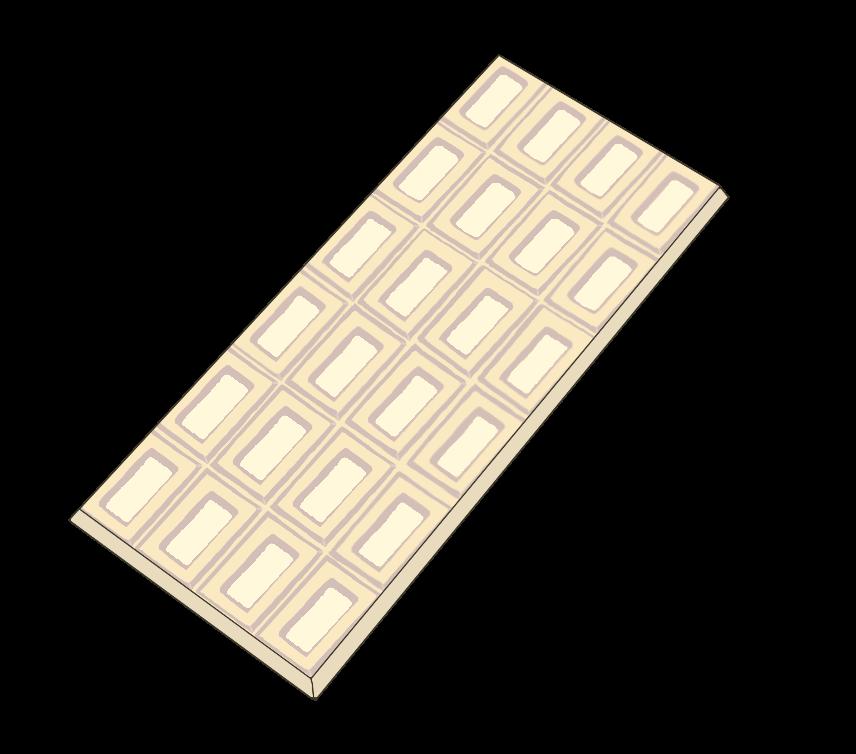 板チョコ(ホワイト)のイラスト