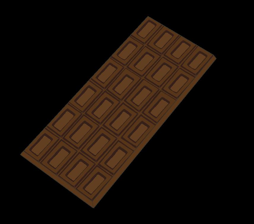 板チョコ(ミルク)のイラスト