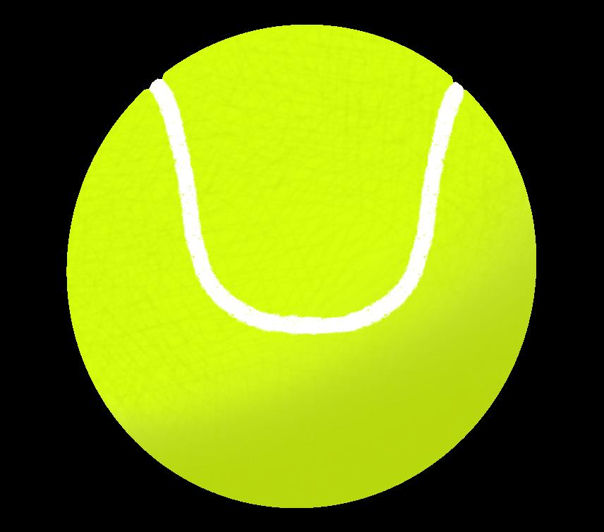 硬式テニスボールのイラスト