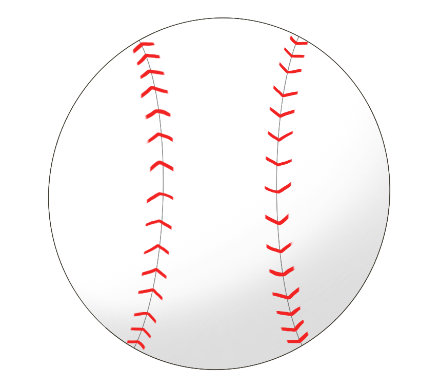 硬式野球ボールのイラスト